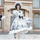 白糖少女現貨~廠原創設計Lolita暗黑哥特風墓囚少女op短袖洋裝 錢夫人小鋪