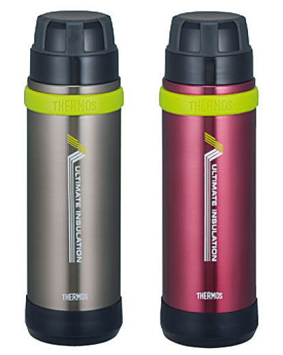 THERMOS 膳魔師登山健行專用超輕真空保溫瓶 FEK-500 灰色 / 桃紅色
