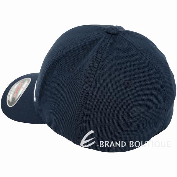 KARL LAGERFELD 標籤設計棒球帽(深藍色) 1920592-34