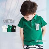 優惠兩天-短袖polo衫男童夏季POLO衫2018新品童裝3歲寶寶T恤夏裝女童衣服兒童短袖上衣3色