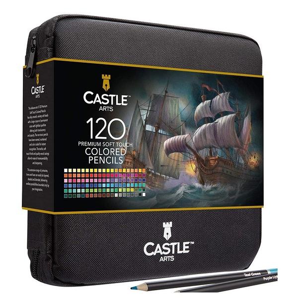[2美國直購] Castle Art Supplies 120支色鉛筆套組 CAS-120CPZ 藝術 彩繪  收納包