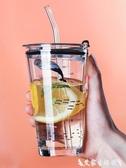 吸管杯網紅吸管杯大人便攜兒童創意潮流個性水杯少女可愛學生家用玻璃杯 熱賣單品