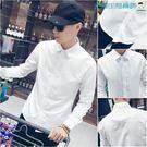 男士白色襯衫男長袖韓版休閒襯衣【洛麗的雜貨鋪】