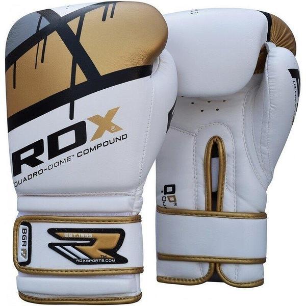 『VENUM旗艦館』RDX 英國 BGR-F7GL QUADRO-DOME 拳擊手套 金 白 尺碼 14oz