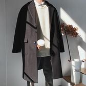 毛呢大衣男中長款冬裝呢子外套寬鬆韓版潮帥氣過膝男士風衣英倫風 現貨快出