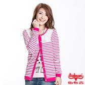 BOBSON 女款蕾絲條紋長袖薄外套(23122-15)