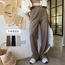 LULUS【A04200171】C不修邊腰鬆緊休閒褲3色