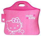 【卡漫城】 出清~Hello Kitty 10.1吋 筆記型電腦 避震袋 粉 ㊣版 手提袋 筆電 保護套 防塵袋 防護袋