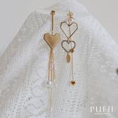 現貨◆PUFII-耳環 正韓幾何風愛心耳環-0226 春【CP18042】