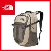 【The North Face 31L 15吋電腦背包 《灰棕/暗森林綠》】CLG4/出國/旅遊/休閒