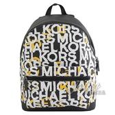 茱麗葉精品【全新現貨】MICHAEL KORS COOPER 普普風品牌LOGO雙肩後背包.黑