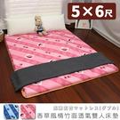 雙人床墊 學生床墊 日式床墊 《5尺香草風情竹面透氣雙人床墊》-台客嚴選