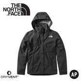 【The North Face 美國 女 DryVent防水外套《黑》】3VPR/防水外套/衝鋒衣/防風外套/保暖外套