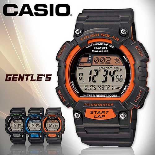 CASIO手錶專賣店 卡西歐  STL-S100H-4A 男錶 運動 防水100米 太陽能電力 橡膠錶帶
