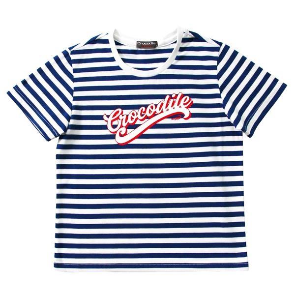 『小鱷魚童裝』Crocodile印圖條紋T恤(04號~06號)557493