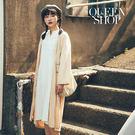 Queen Shop【01084611】素面小V領長洋裝 兩色售*現+預*