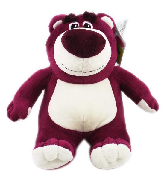 【卡漫城】 熊抱哥 玩偶 26cm 坐姿 紫 ㊣版 布偶 絨毛娃娃 Lotso 玩具總動員 Toy Story