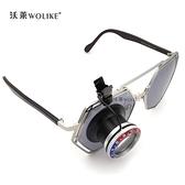 放大鏡 修表工具 水鬼圈帶夾子放大鏡 眼罩寸鏡 可夾在眼鏡上 10倍 鋁質 米家