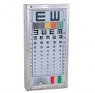 不鏽鋼 視力表+色盲板 燈箱