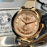 VERSUS VERSACE凡賽斯女錶36mm玫瑰金色錶面米黃色錶帶