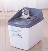 貓砂盆頂入式防外濺帶出貓廁所