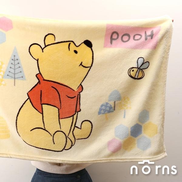小熊維尼法蘭絨毛毯- Norns 迪士尼正版授權 Winnie the Pooh保暖刷毛毯 膝上毯