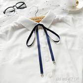 新款蝴蝶結絲帶手打領結配飾chic學院風飄帶襯衫領結領巾窄帶 時尚教主