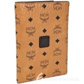MCM Nomad 經典品牌圖騰牛皮護照夾(棕色) 1640150-B3