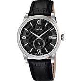 JAGUAR積架 Acamar 小秒針紳士手錶-黑/42.5mm J662/8