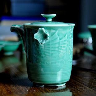 中逸 12件青瓷茶具套裝高檔禮品 一帆風順
