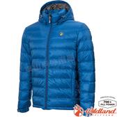 Wildland 荒野 0A72102-77中藍色 男收納枕拆帽極暖鵝絨外套 防風防潑水/羽絨夾克/保暖羽絨服*