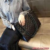 包包女新款潮大氣手提包韓版百搭斜挎包大容量菱格鏈條包