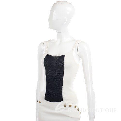 MANTANA 白/深藍色細肩帶背心 0520975-77