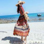 顯瘦沙灘裙子海邊民族風長裙