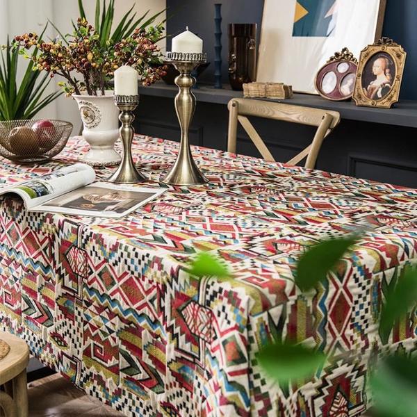 美式棉麻布藝餐廳桌布輕奢客廳茶幾家用長方形餐桌桌墊防塵臺布