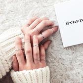 新款十件套戒指日韓女簡約關節裝飾戒指潮人組合指環尾戒對戒飾品