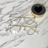 Miinwoo 韓國ulzzang復古眼鏡超輕素顏近視框架新款圓臉眼鏡金色