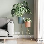 北歐簡約鐵藝落地式花盆植物花架子裝飾綠植架 【时尚大衣櫥】