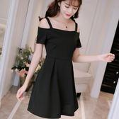 韓版顯瘦純色女裝修身大碼針織時尚吊帶連衣裙 「爆米花」