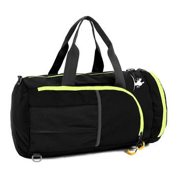 【FREE KNIGHT】可手提側背防水折疊收納背包/旅行袋(黑) FK0725BK