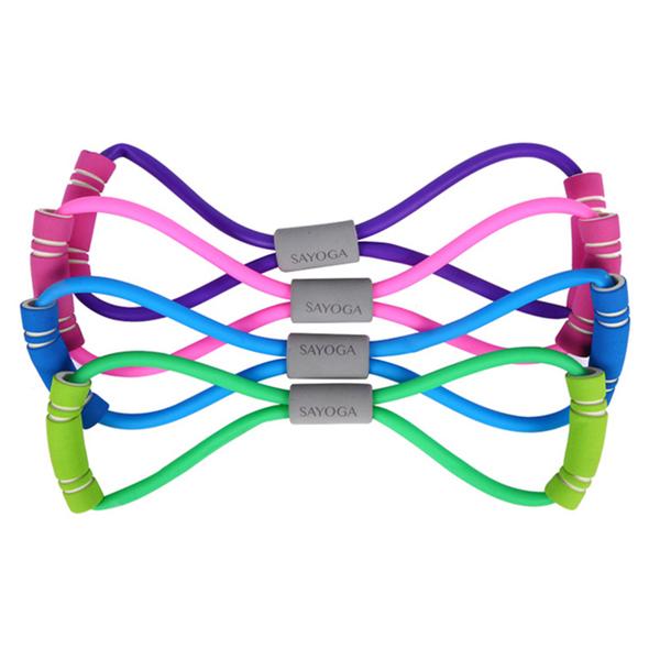BO雜貨【SV6395】瑜珈八字繩 8字拉力器 瑜伽拉力繩 彈力拉力繩 擴胸 塑胸器 家用健身器材