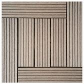 太陽神塑木拼接防潮地板30X30-L深灰