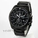 【萬年鐘錶】 LICORNE entree  三環計時錶  鍍黑x黑   白色字  LT094MBBI-W