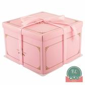 【5套】方形蛋糕包裝盒手提烘焙蛋糕盒子6寸【福喜行】