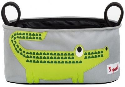 【愛吾兒】加拿大 3 Sprouts推車置物袋-小鱷魚 台灣授權代理商 保證正品