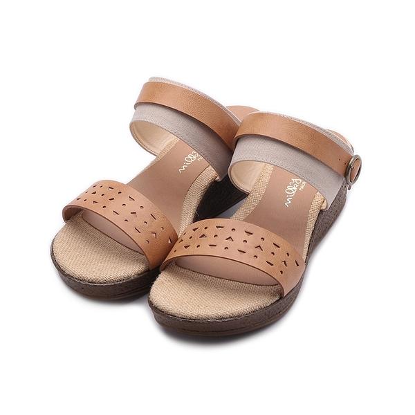 milky milky 麻編雕花楔型涼鞋 米 5362 女鞋