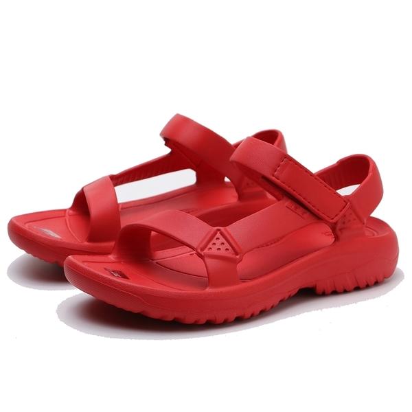 TEVA 大紅色 全紅 防水 黏帶 膠鞋 中童(布魯克林) TV1102483CFYR
