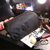 大容量洗漱包收納包 黑色韓國防水手提 旅行男女化妝包  (pink Q 時尚女裝)