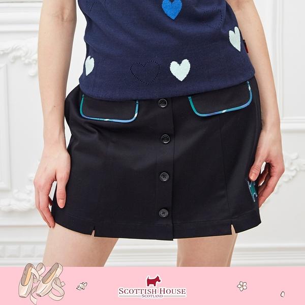 素面排釦短褲裙 Scottish House 【AM2267】