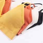 內衣文胸【網紅款】三角杯運動文胸日系學生少女無鋼圈內衣大胸顯小薄款